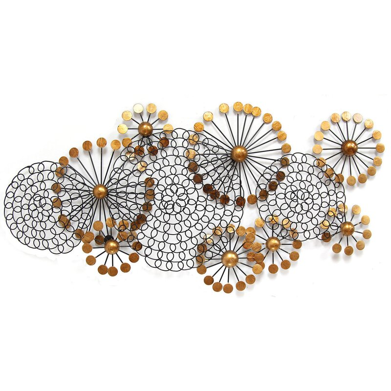 Metal Circle Wall Decor stratton home decor spiral circles wall décor & reviews | wayfair