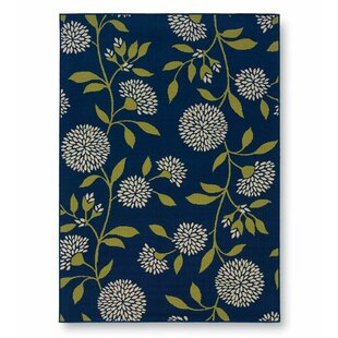 Floral Surry Rug Blue Indoor/Outdoor Area Rug