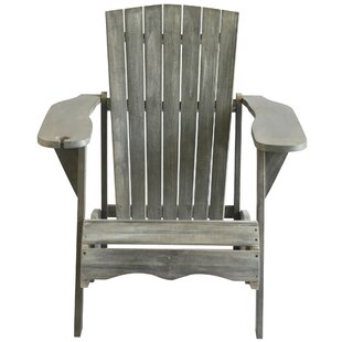 Highland Dunes Briaca Shores Solid Wood Adirondack Chair
