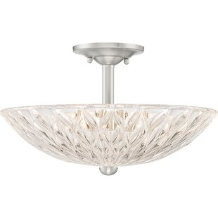 Mccaslin 3-Light Semi Flush Mount by House of Hampton