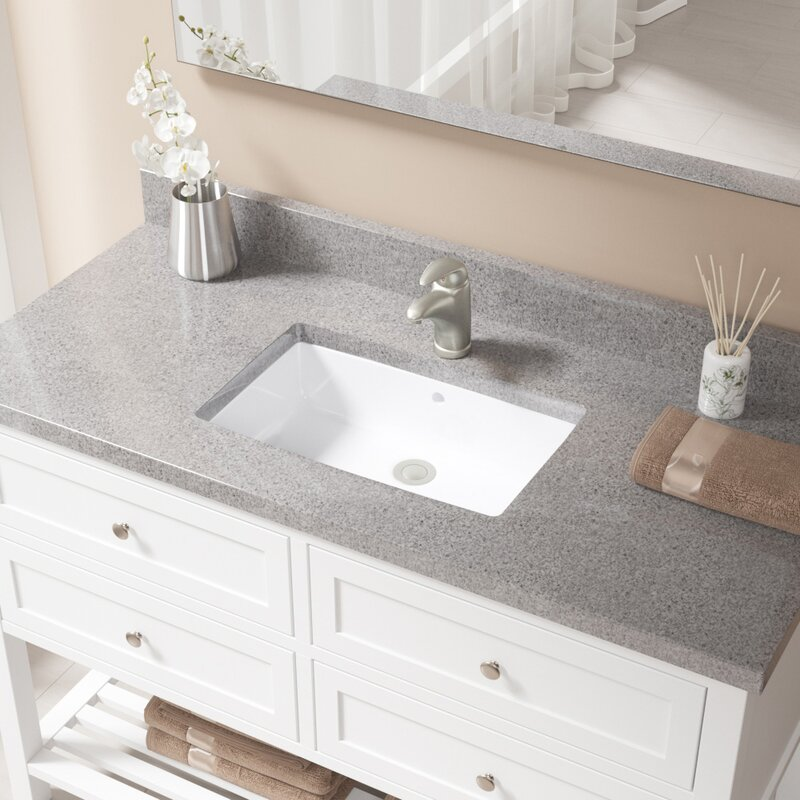 Undermount Bathroom Sinks | Mrdirect Vitreous China Rectangular Undermount Bathroom Sink With