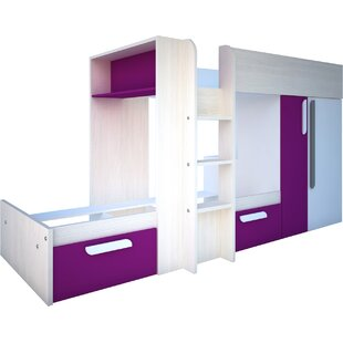 Henry Extra Long Twin Bunk Bed With Drawers And Bookcase By Isabelle & Max