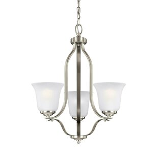 Charlton Home Elsa 100W 3-Light Shaded Chandelier