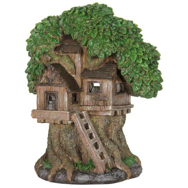 "Miniature Mini FAIRY GARDEN Gnome ~ 8/"" Tree Stump House with Solar Light"