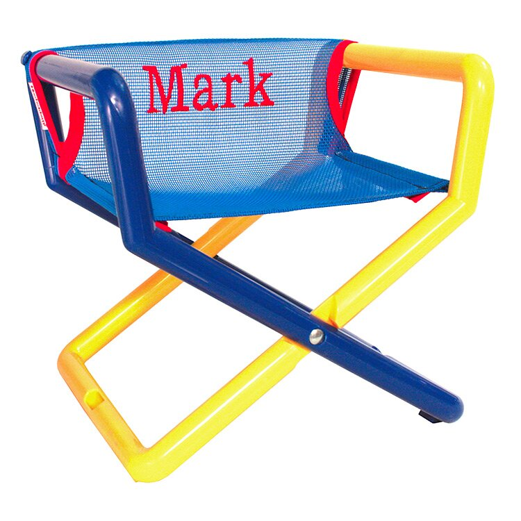 Junior Personalized Kids Directoru0027s Chair In Blue Mesh