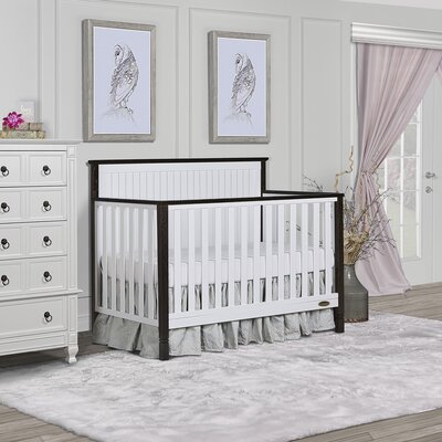 Alexa II 5 in 1 Convertible Crib Dream On Me Color: White/Brushed Dark Brown