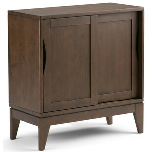 Simpli Home Harper Low Storage 2 Door Accent Cabinet