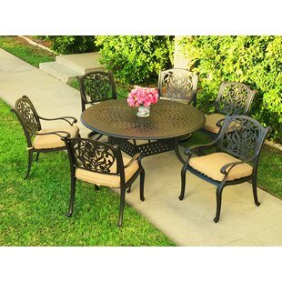 Camptown 7 Piece Sunbrella Dining Set wit..