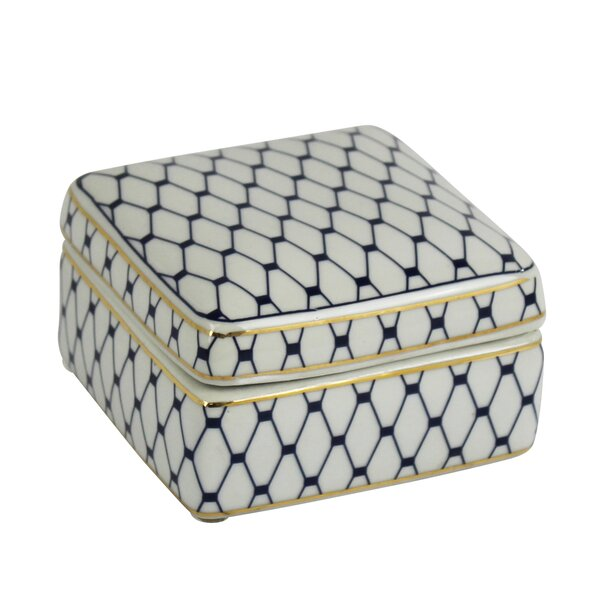 Ceramic Covered Decorative Box