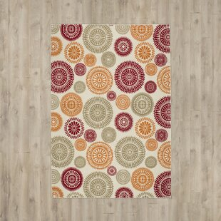 Priscila Orange/ Red/ Green/ Indoor/Outdoor Area Rug