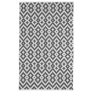 Look for Zen Samsara Cotton Charcoal Gray/White Area Rug By Fab Habitat