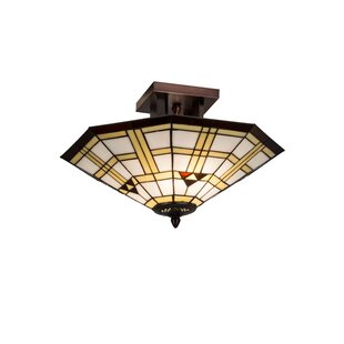 Meyda Tiffany 2-Light Mission Southwest Arrowhead Semi Flush Mount