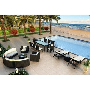 Azariah 18 Piece Sunbrella Sectional Set with Cushions