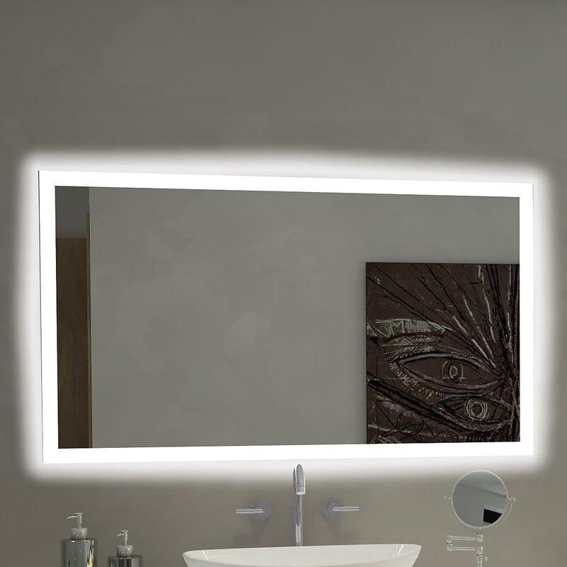 paris mirror rectangle backlit bathroom vanity wall mirror reviews rh wayfair com large rectangle bathroom mirror rectangle pivoting bathroom mirror