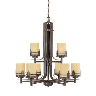 Designers Fountain Mission Ridge 9-Light Shaded Chandelier