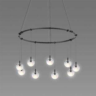 Kaleigh 9-Light Cluster Pendant by Brayden Studio