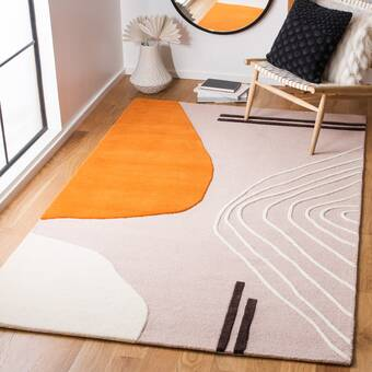 Brunson Handmade Wool Burnt Orange Area Rug Reviews Allmodern