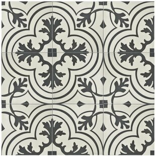 Forties 7 75 X Ceramic Field Tile In Vintage Charcoal Off White