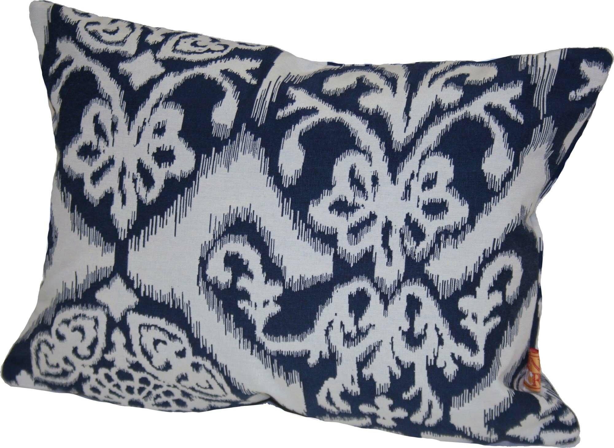 House Of Hampton Stonington Ikat Pillow Wayfair