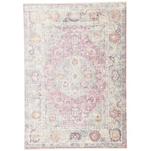 Patchen Lily White/Desert Rose Area Rug By Bungalow Rose