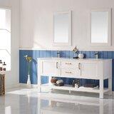 Kesgrave 72 Double Bathroom Vanity Set with Mirror by Brayden Studio®