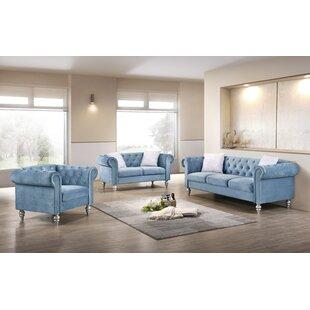 Tena 3 Piece Living Room Set by Rosdorf Park