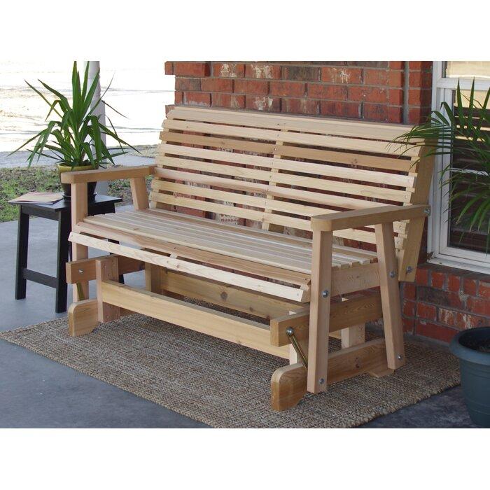 Phenomenal Jessica Cedar Glider Bench Andrewgaddart Wooden Chair Designs For Living Room Andrewgaddartcom