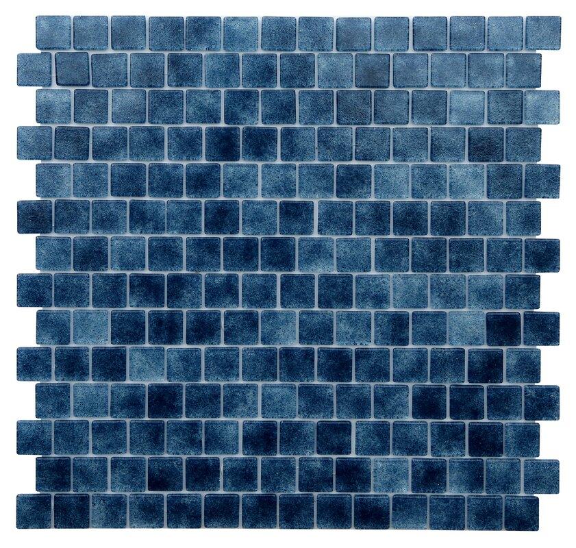 Quartz 075 X 0 75 Gl Mosaic Tile In Dark Blue