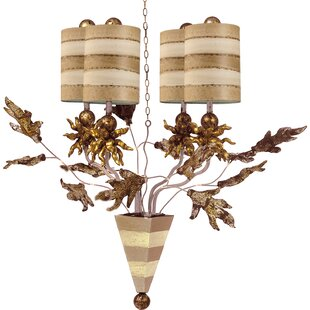 Rosdorf Park Borquez 4-Light Shaded Chandelier