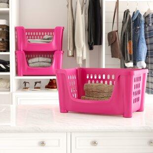 Affordable Medium Stack 'N Nest Plastic Storage Bin (Set of 3) BySymple Stuff