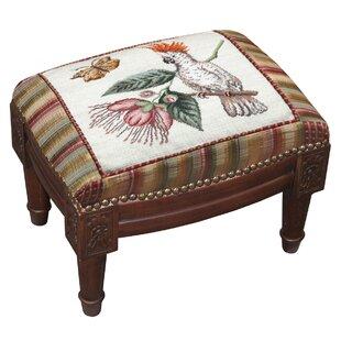 Cockatoo Wool Needlepoint Upholstered Ottoman