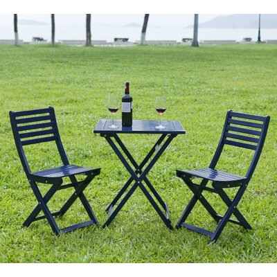 3 Piece Bistro Set Finish: Navy Blue by HRH Designs