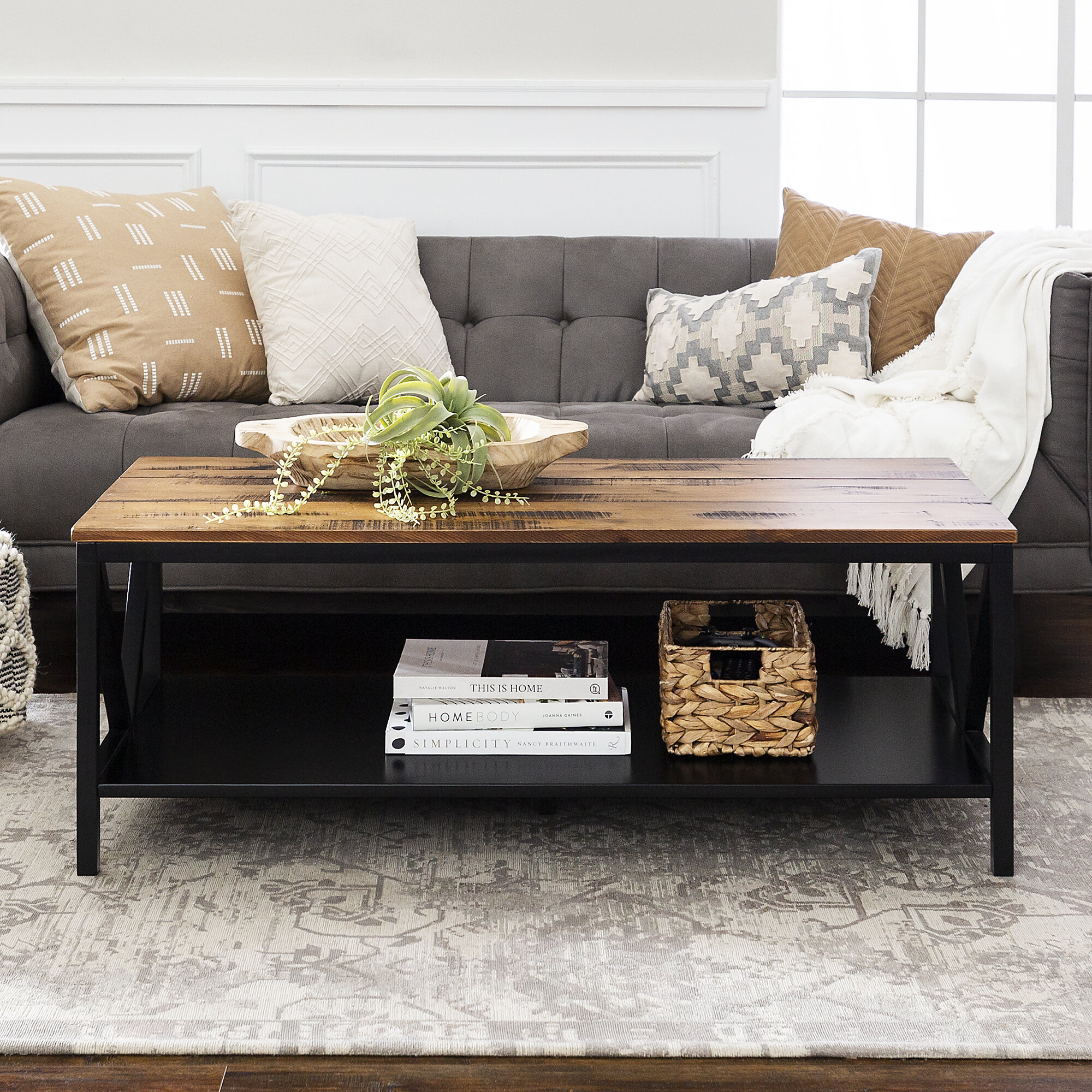 Black Rectangle Coffee Tables You Ll Love In 2021 Wayfair