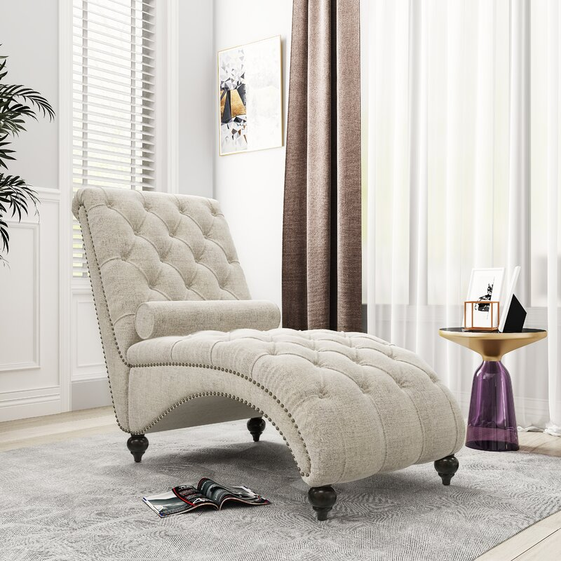 Canora Grey Trinidad Tufted Armless Chaise Lounge
