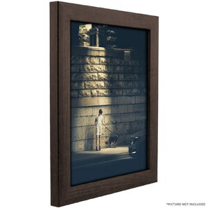 Wide Smooth Wood Grain Picture Frame