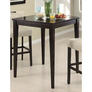 Jemison Transitional Style Wooden Square Pub Table