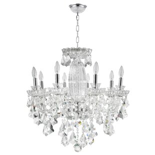 Cordella 8-Light Polished Chrome Candle Style Chandelier by Rosdorf Park