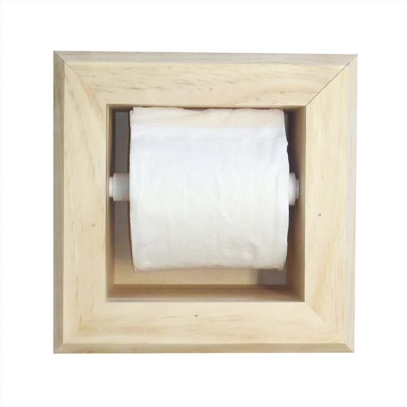 In Wall Toilet Paper Holder wg wood products recessed toilet paper holder & reviews | wayfair