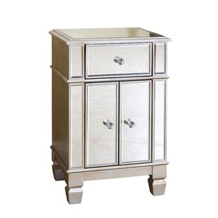 Stine Mirrored 2 Door Accent Cabinet