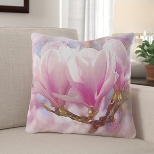 Easter Compton Flowers Throw Pillow