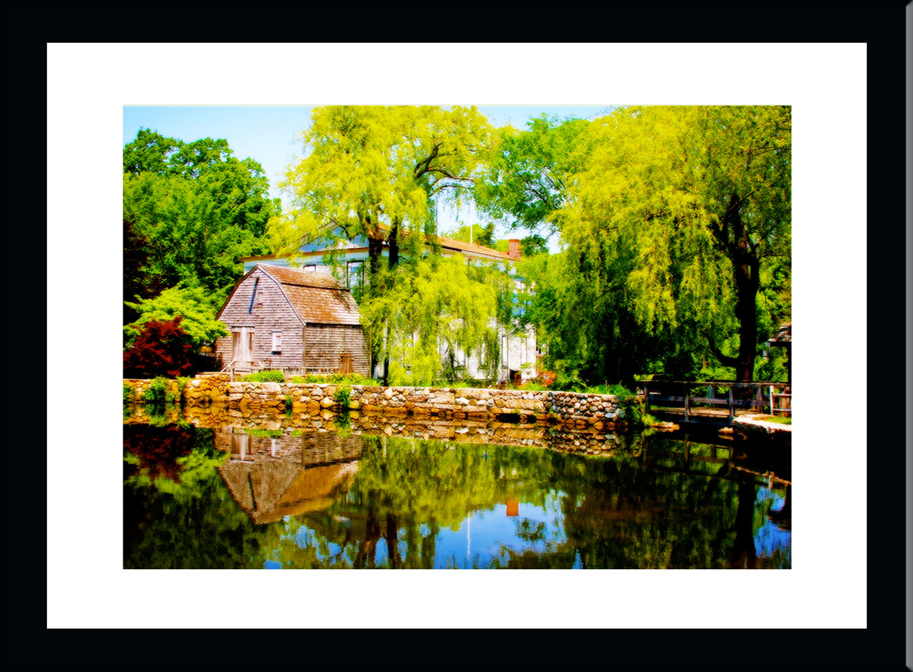 Buy Art For Less Old Cape Grist Mill Sandwich Ma By Jobe Waters Framed Photographic Print Wayfair