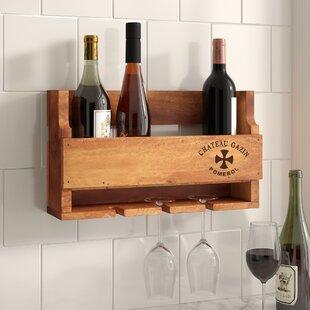 Cheltondale Chateaux Gazin 4 Bottle Wall Mounted Wine Rack By Alpen Home