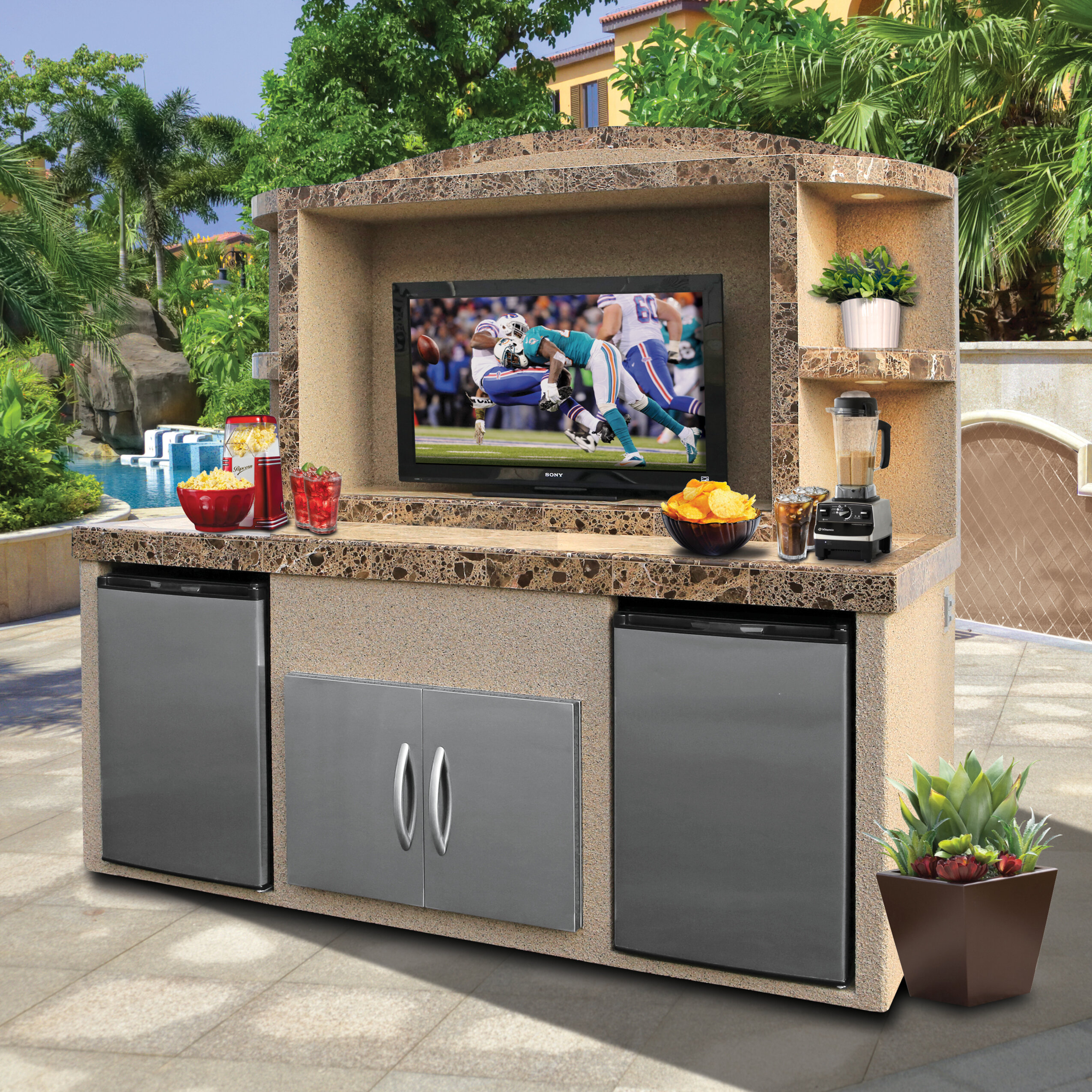 """Anzavia Outdoor Entertainment Centre for TVs up to 8"""""""