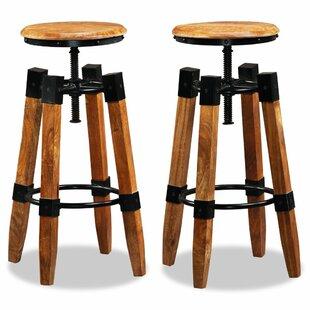 Romford Height Adjustable Bar Stool (Set Of 2) By Williston Forge