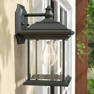 Burdick 1-Light Outdoor Wall Lantern by Charlton Home