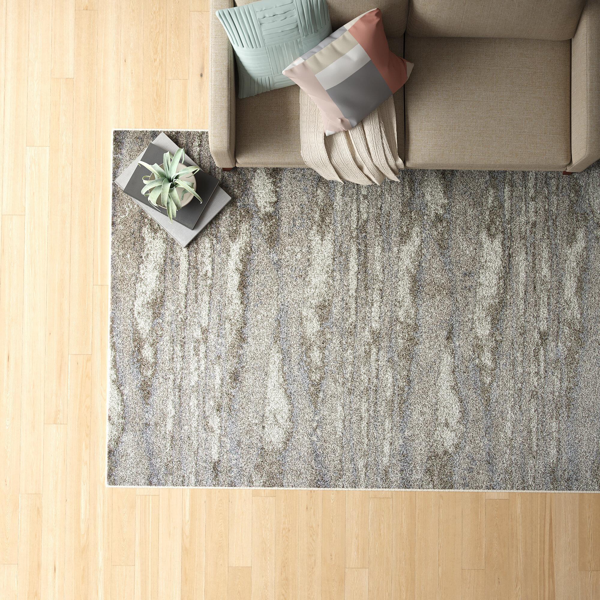 Foundstone Brett Abstract Beige Gray Area Rug Reviews Wayfair