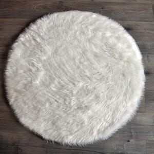 Round White Area Rug