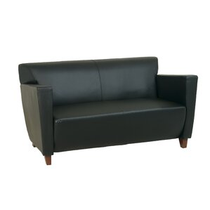 Leather Settee by Office Star Products