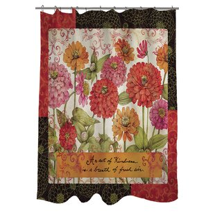 Zinnia Single Shower Curtain