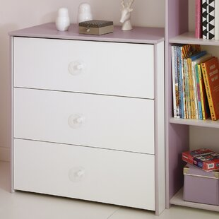 Den Helder 3 Drawer Dresser by Zoomie Kids